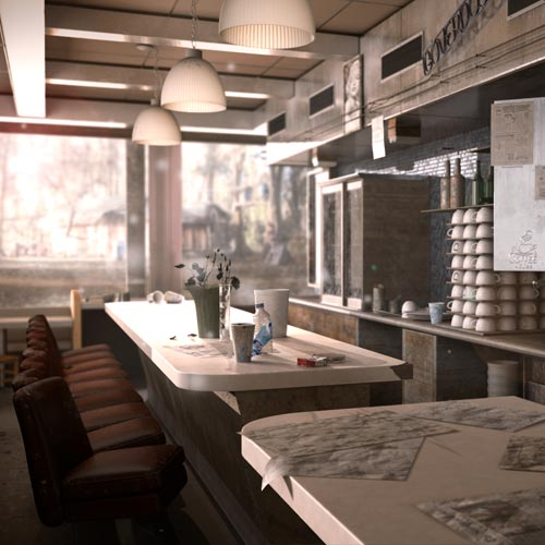 cafeteria por Zaida de la torre